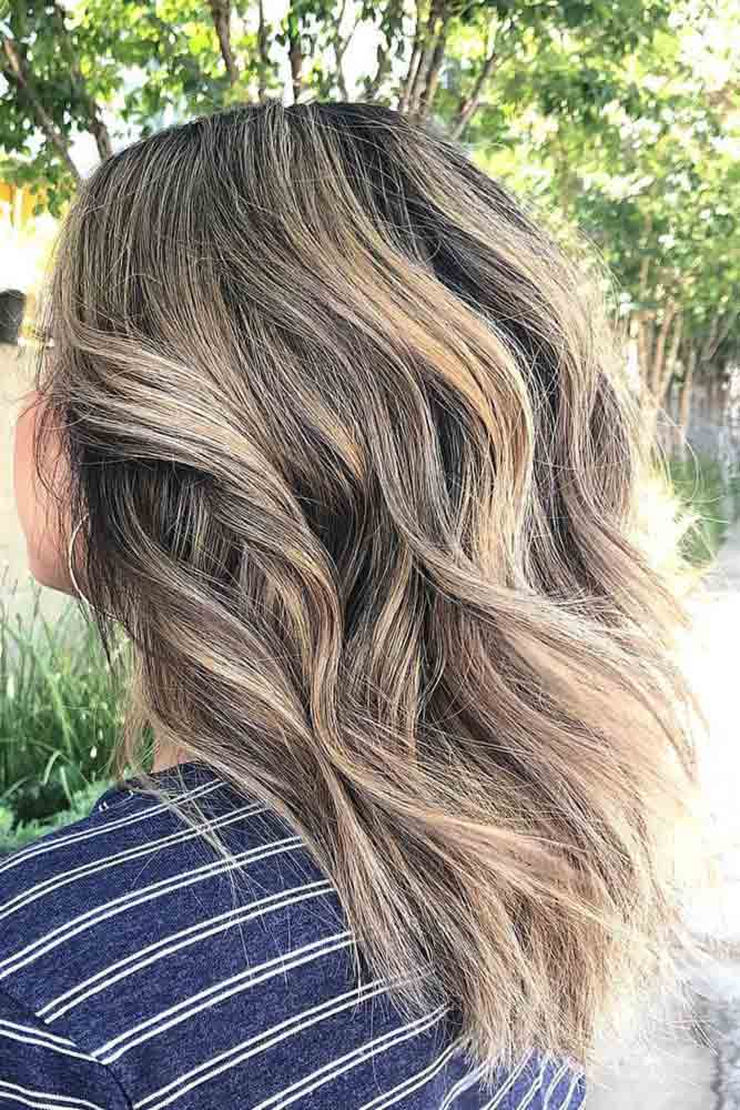 Cute Blonde Highlights On Natural Brown Hair #highlights #blondehighlights