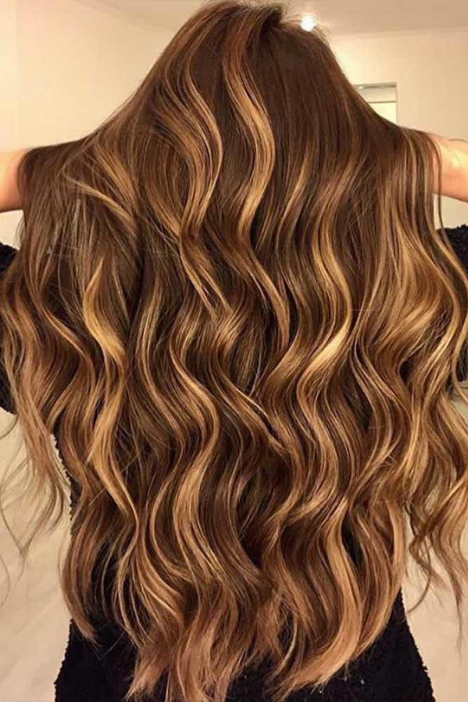 Beautiful Brown Tiger Hair Color #highlights #blondehighlights