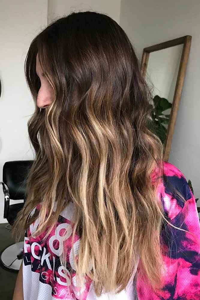 Long Brown Hair #highlights #blondehighlights