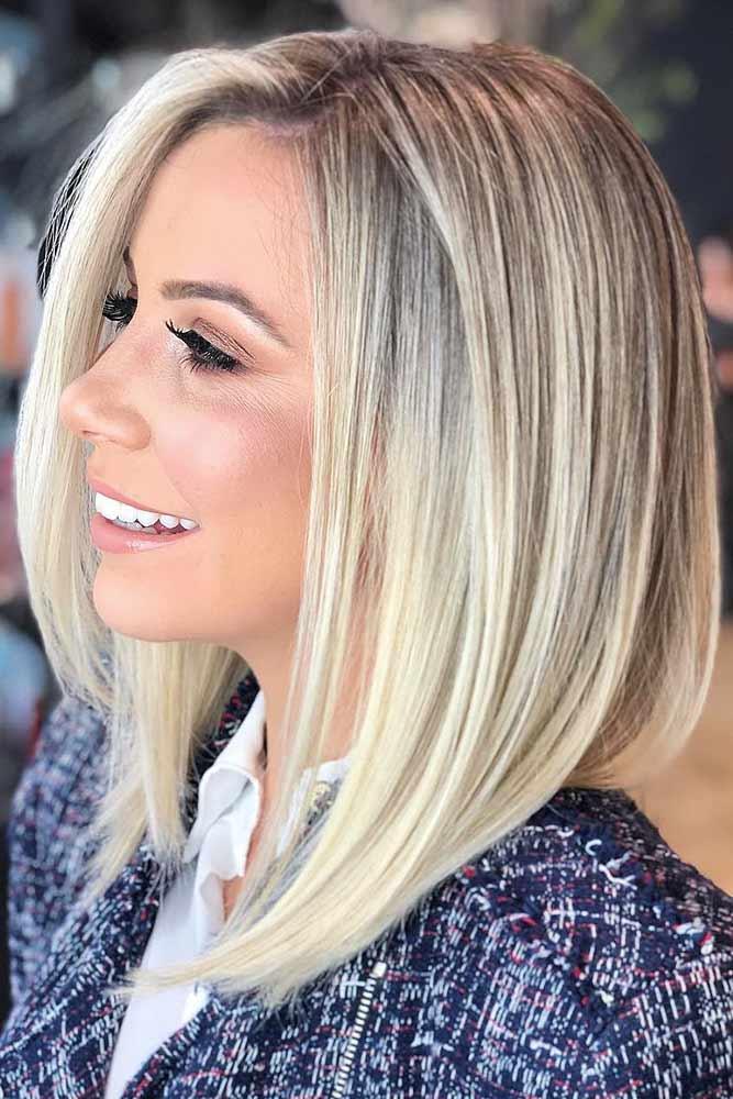 Pearl Blonde Tint Highlights #blondehair #highlights #bob