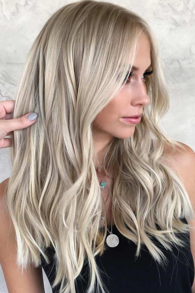 Platinum Blonde Hair Color #blondehair #highlights