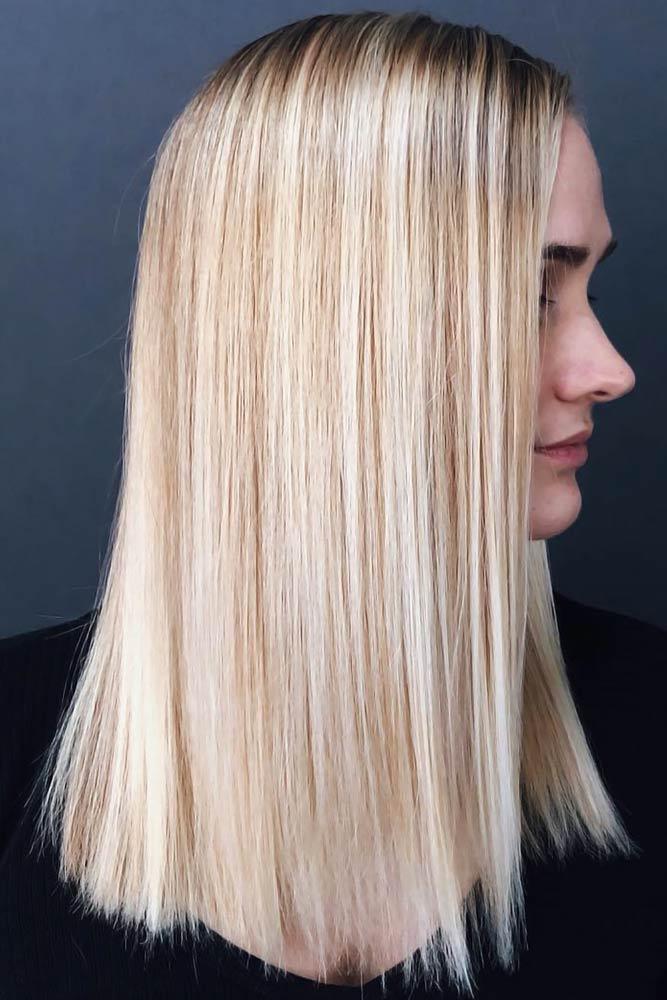 Sleek Hairstyle #blondehair #highlights