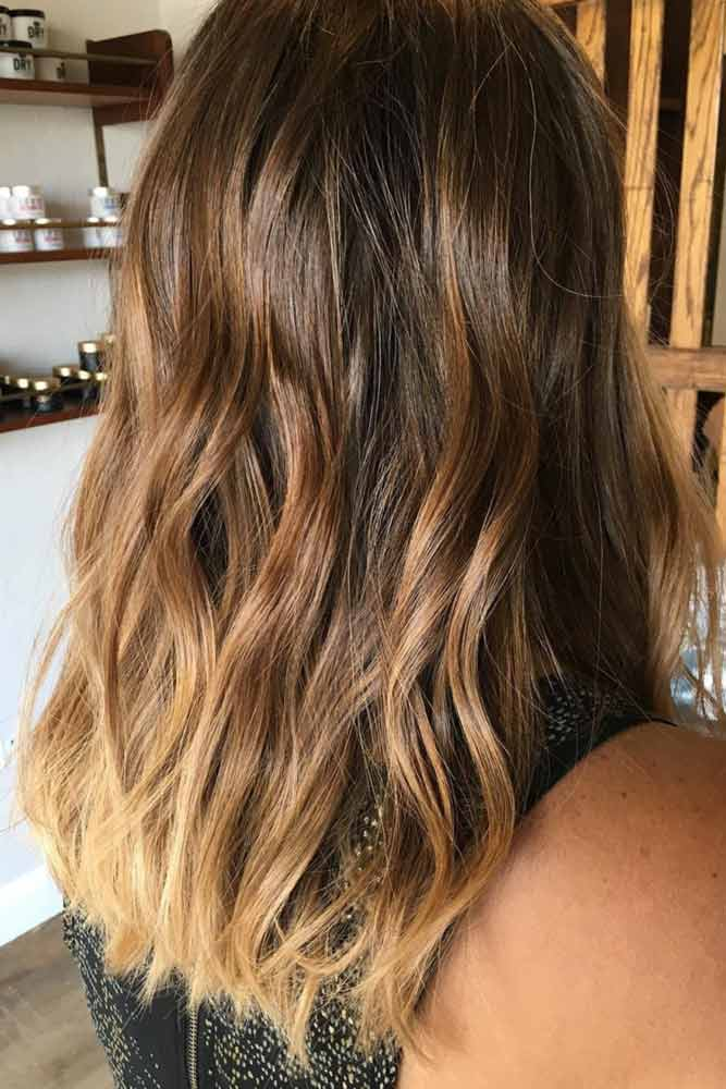 Warm Blonde Colors On Brown Hair #highlights #blondehighlights