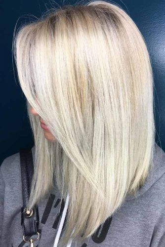 Blonde Medium Length Haircut #haircutstyles #haircuts #mediumlength