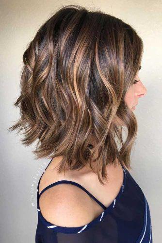 Wavy Lob Haircut #haircutstyles #haircuts #bobhaircut