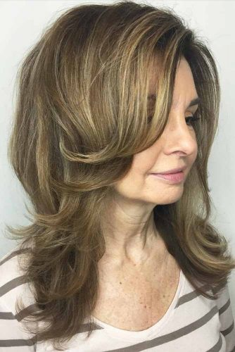 Layered Cut with Blonde Balayage