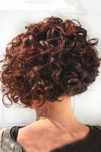 Chocolate Short Bob with Voluminous Curls