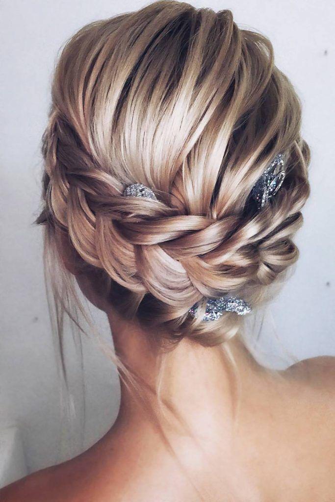 Halo Braids With Accessories Blonde #braids #halobraids #updo