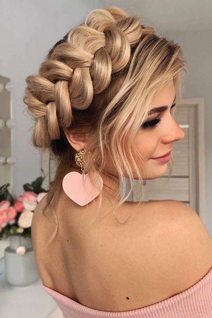 Creative Ideas Of Halo Braids #braids #halobraids #updo