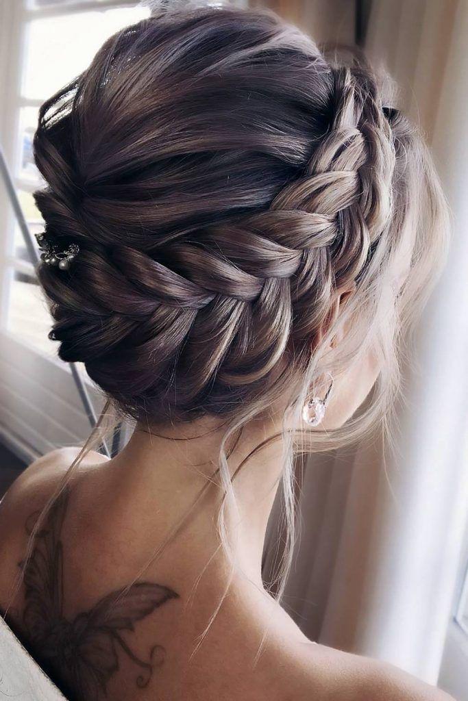 Messy Halo Braids Waves #braids #halobraids #updo