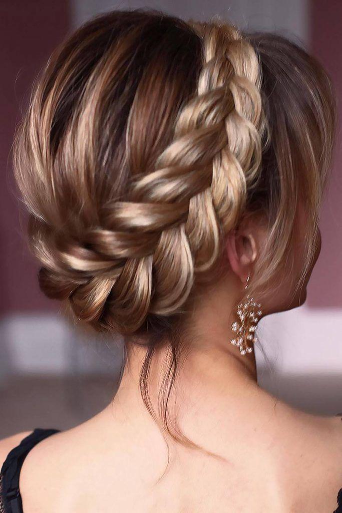 Halo Crown Braid #braids #halobraids #updo