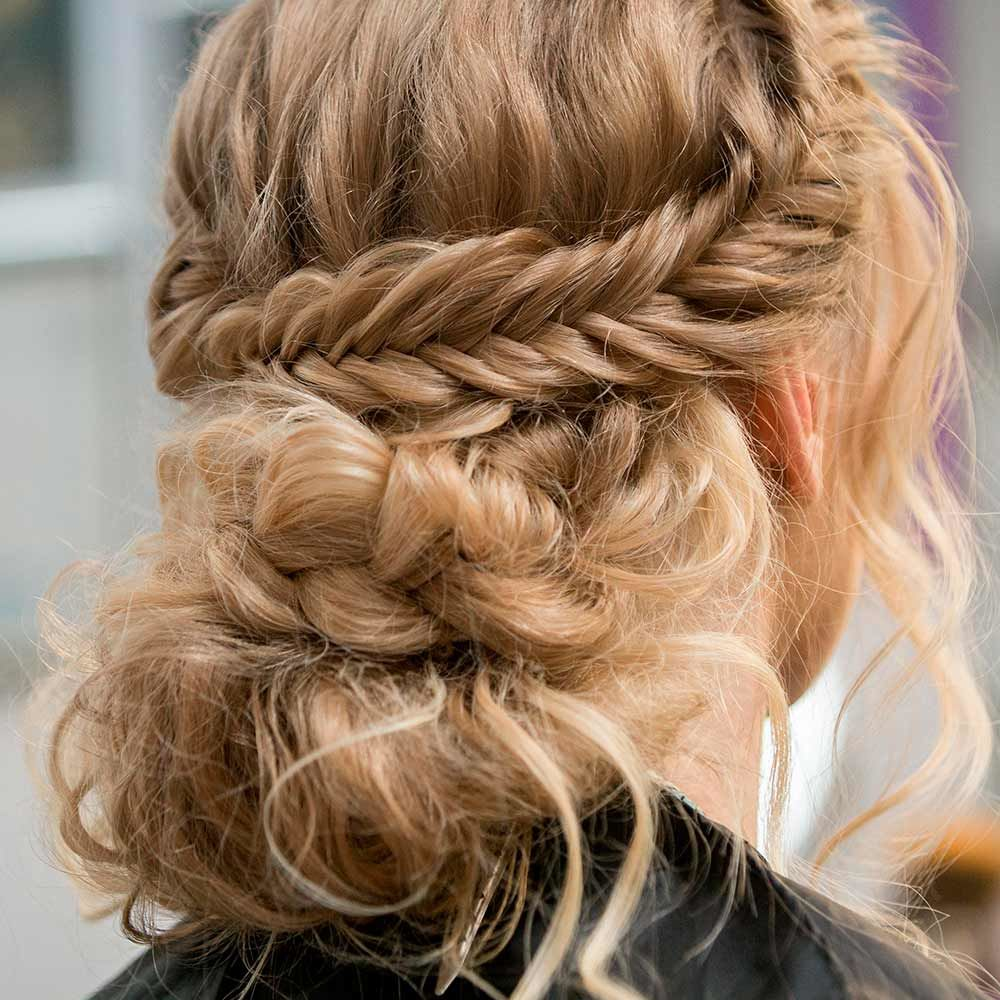 Fishtail Halo Braid Updo