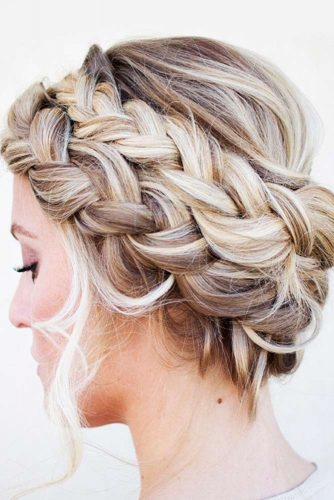 Classic Halo Braid Ideas French #braids #updo