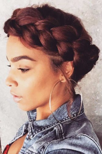 Halo Braids For Natural Hair Dutch #braids #updo