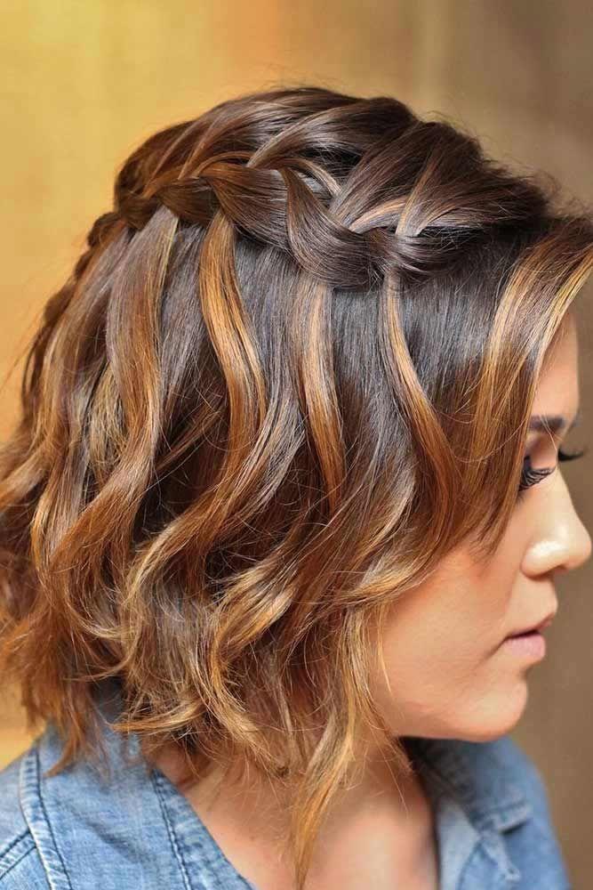 Waterfall Braids For Short Hair #waterfallbraid #braids #hairstyles