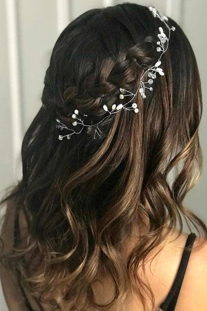 Waterfall Braids Hairstyles With Accessories #waterfallbraid #braids #hairstyles