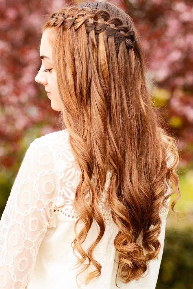 Auburn Four & Five Strand Waterfall Braids #waterfallbraid #braids #hairstyles