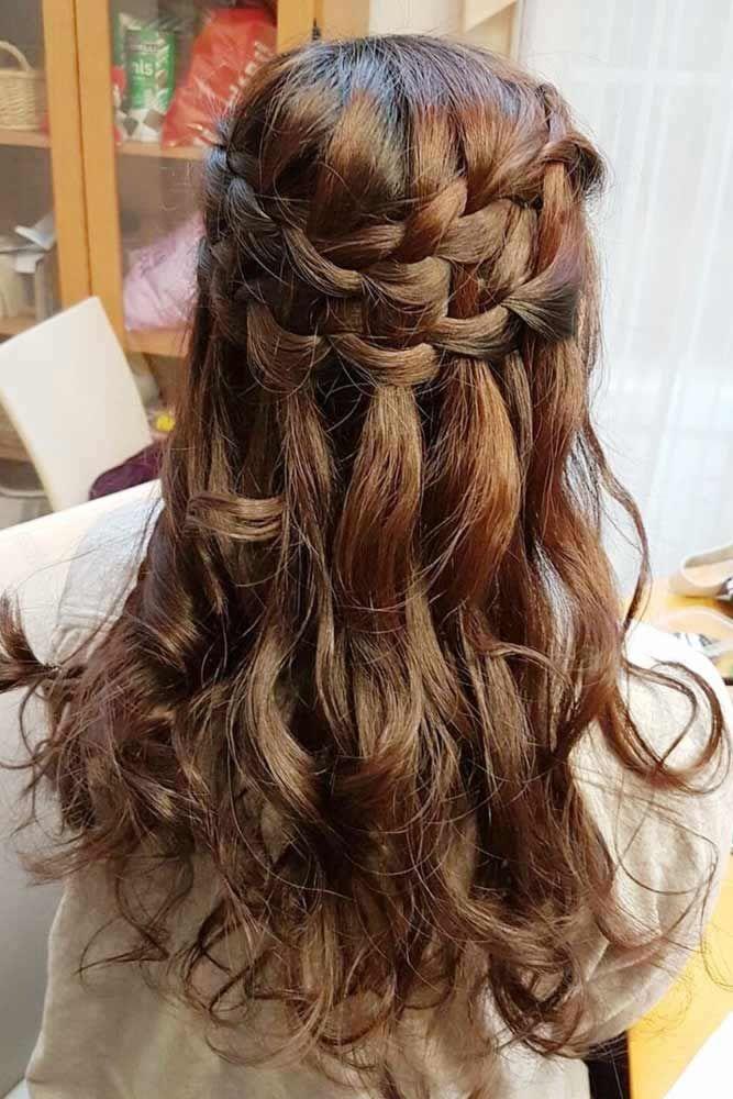 Double Waterfall Braids #waterfallbraid #braids #hairstyles