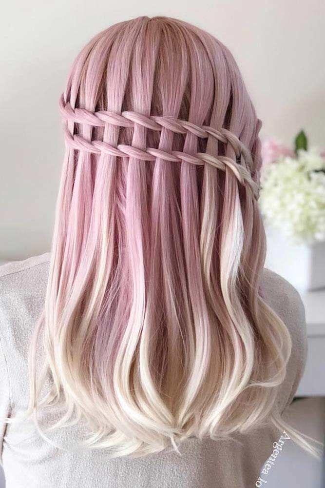 Rose Double Waterfall Braids #waterfallbraid #braids #hairstyles