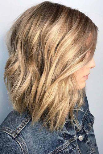 Blonde Layered Lob #lobhaircut #haircuts #bobhaircut