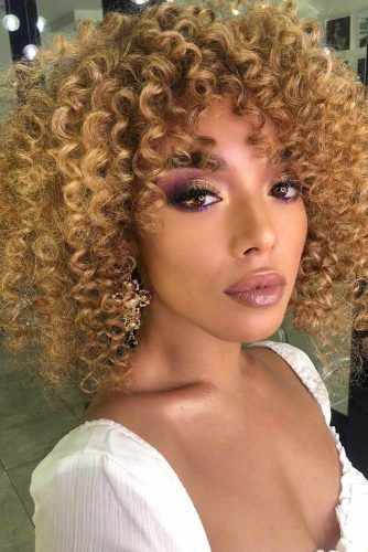Blonde Curly Bob Haircuts #lobhaircut #haircuts #bobhaircut