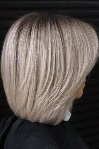 Ice Blonde Lob With Bangs #lobhaircut #haircuts #bobhaircut