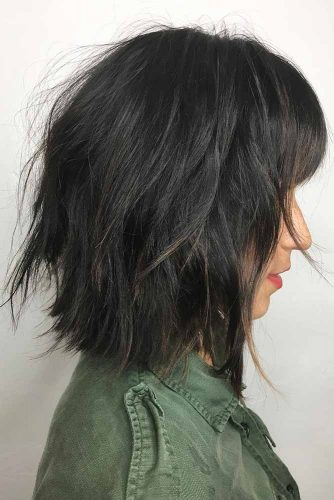 Long Bob Haircut with Bangs picture1