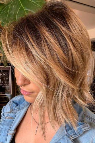 Messy Sandy Lob With Dark Roots #lobhaircut #haircuts #bobhaircut