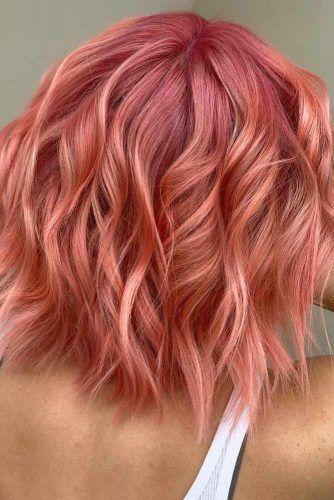Wavy Peach Lob #lobhaircut #haircuts #bobhaircut