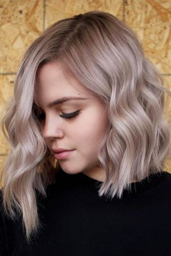 Side Parted Asymmetrical Bob Haircuts #lobhaircut #haircuts #bobhaircut