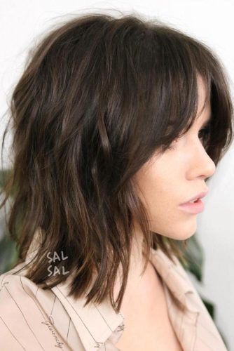 Lob Hairstyles with Bangs picture1