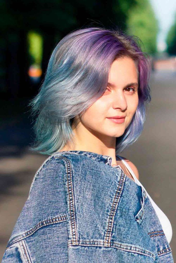 Smoky Lavender Ombre For Short Hair