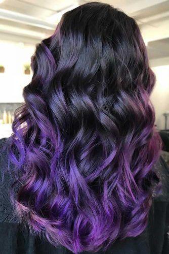 Black & Purple Sleek #purplehair #ombre