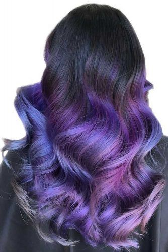 Black & Purple Waves #purplehair #ombre