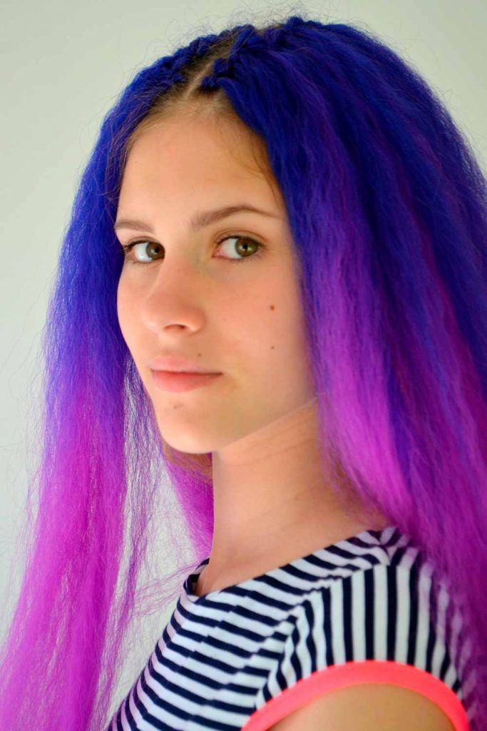 Electric Blue And Purple Shade