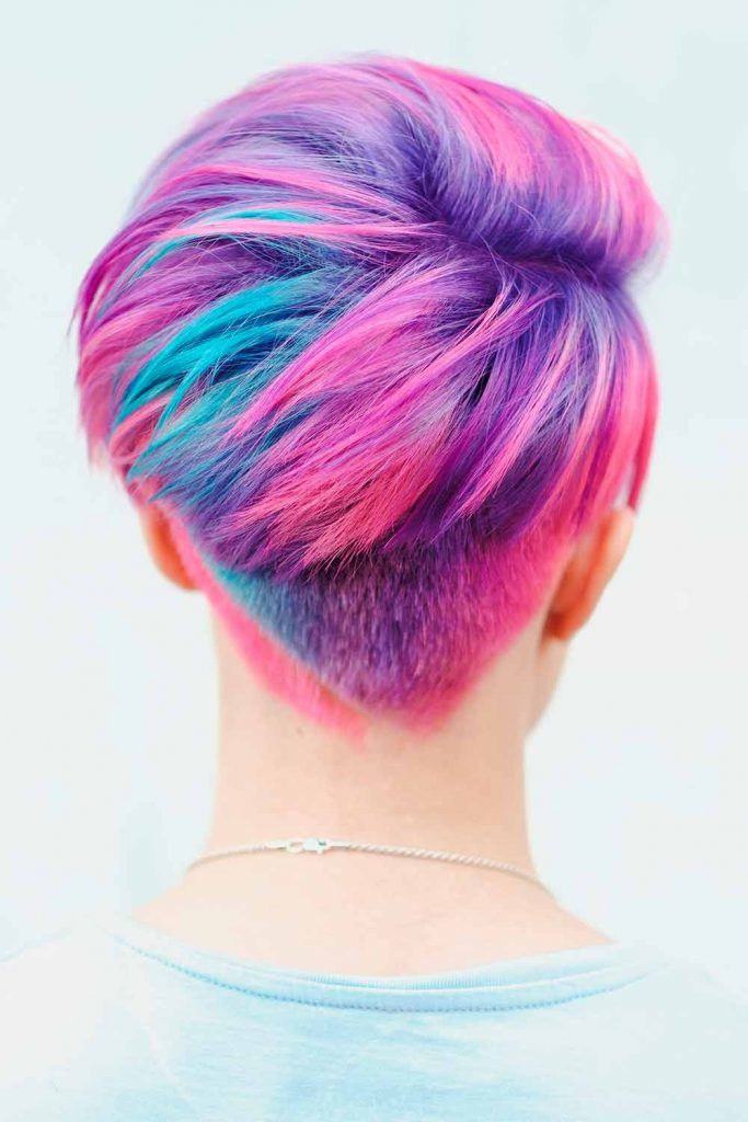 Electric Purple Shade With Pink Highlights