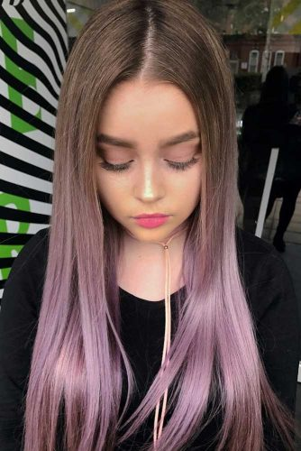 Smoky Lavender Ombre Hair picture1