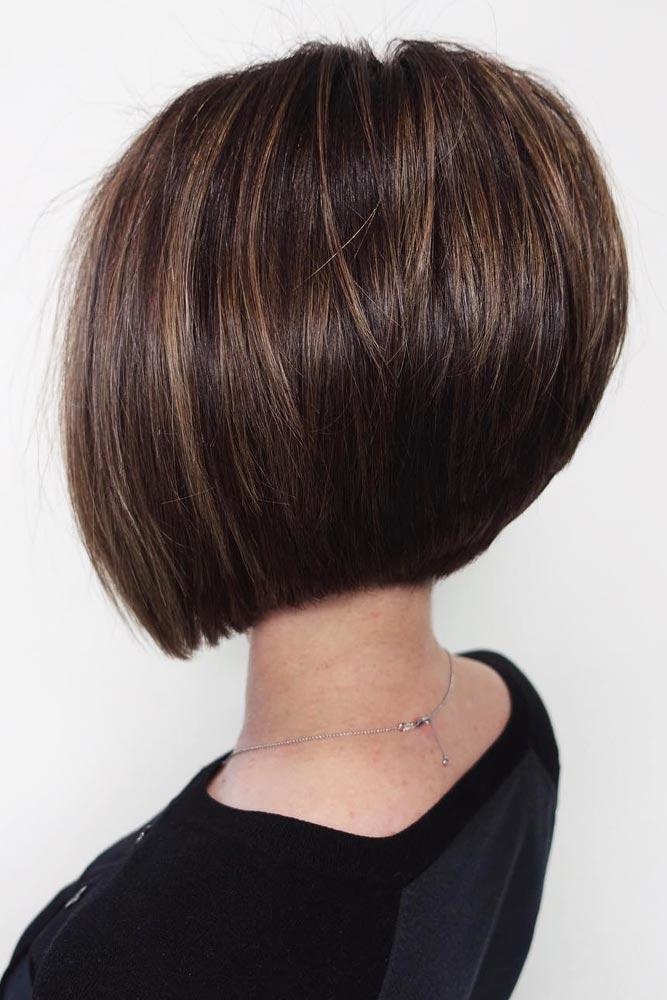 Short Angled Bob Hairstyle #shortbobhairstyles #bobhairstyles #hairstyles #straighthair #browncolor