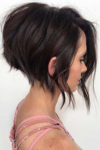 Angled Textured Bob #shortbobhairstyles #bobhairstyles #hairstyles