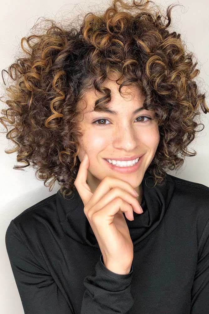 Short Bob Haircut For Curly Hair #shortbobhairstyles #bobhairstyles #hairstyles #curlyhair