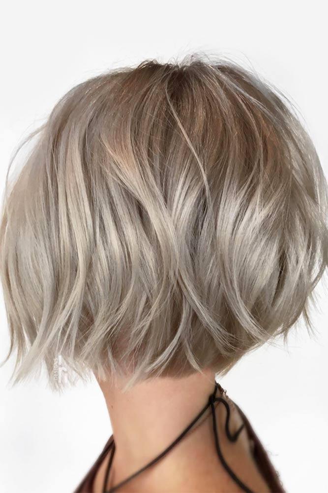 Very Short Bob Haircut #shortbobhairstyles #bobhairstyles #hairstyles #haircuts #silvercolor