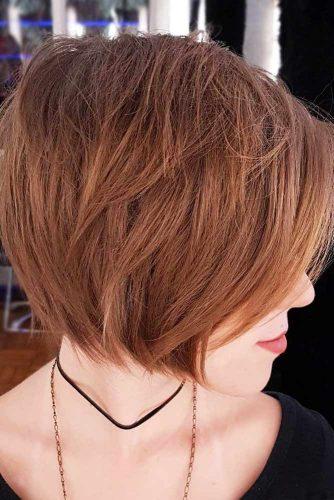 Straight Layered Bob Hairstyles #shortbobhairstyles #bobhairstyles #hairstyles #straighthair #layeredhair