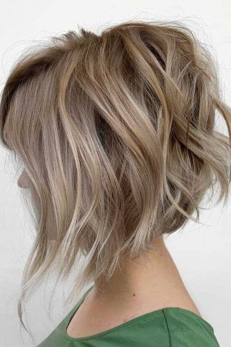 Edgy Bob for Blonde Hair