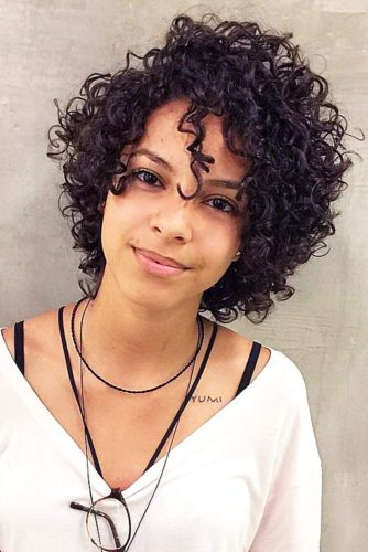 Short Curly Hairstyle For Black Hair
