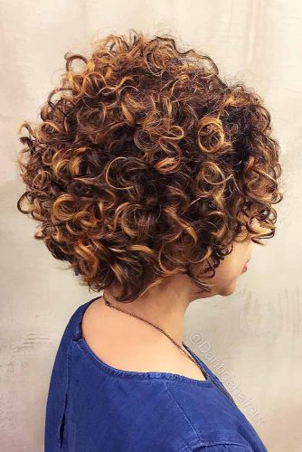 Hairstyle For Short Curly Hair With Highlights