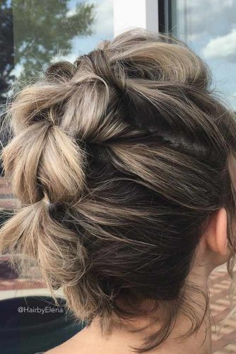 Updos Hairstyles for Shoulder Length Hair picture2
