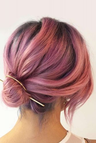 Updos Hairstyles for Shoulder Length Hair picture3