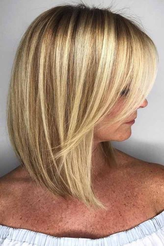 Medium Hair Length With A Side Bang #shoulderlengthhair #mediumhairstyles #hairstyles #straighthair #longbob