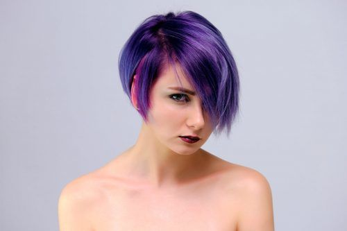 Inspiring Shades of Purple Ombre Hair