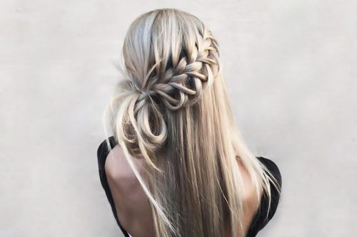 Sensual Waterfall Braid Hairstyles